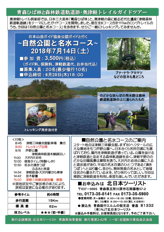 自然公園と名水コース